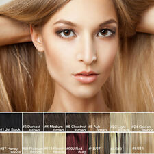 """18"""" Hair Extensions Clip in 100% Remy Human Hair 7pcs 15 Colors 70g 100g"""