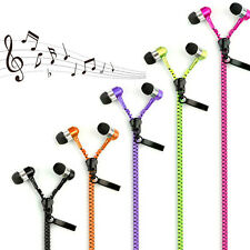 3.5mm In-ear Zipper Stereo Hands-free Headphone Earphone Headset Earbuds Mic