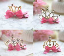Crown Party Baby Girls Pearl Princess 4 Colors Hair Clip Noble New Accessories