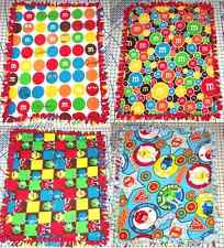 "M&M's M&M Candy Fleece Baby Blanket Pet Lap Hand Tied 30"" x 24"" Girls Boys New"