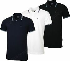 NEW MENS CALVIN KLEIN JEANS POLO SHIRT - Twin Tip Golf T-shirt with Contrast Tip