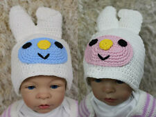 Handmade Easter Bunny Hat Twins Rabbits Hat Knit Crochet Hat Baby Hat Child Hat