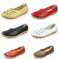 Leather Ballet Flats Lady Shoes New Casual Women Oxfords Slip On Loafer AHE-1199