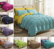 Solid Color Bedding Pillowcases Duvet Cover Set Single Double King SIze