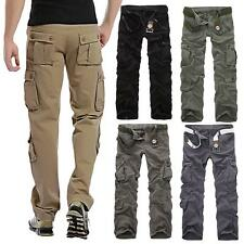 Military Army Cargo Army Combat Long Trousers Casual Mens Pants Fashion U3W5