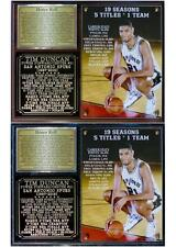 Tim Duncan #21 San Antonio Spurs 1997-2016 Retirement Photo Plaque
