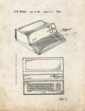 Apple Personal Computer Patent Print Old Look
