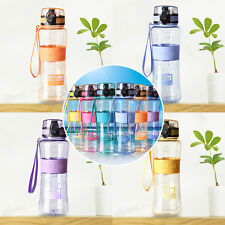450ml BPA Free Sport Travel Gym Outdoor School Camping Water Bottle Carry Strap