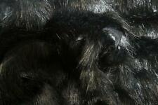 Super Luxury Faux Fur Fabric Material - WAVY HI-LO BLACK