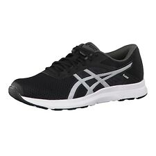Asics Mens Fuzor Black White Running Shoes Sneakers Trainers DS T6H4N-9001