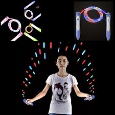 2016 Rubber LED Lighting Jump Rope Skipping Rope for Adults School Kids Fitness