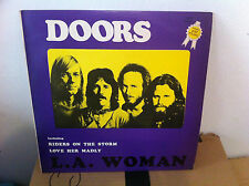 THE DOORS LA WOMAN ISRAELI ISRAEL Lp unique PURPLE cover HEBREW PRINT N/MINT