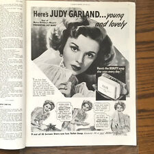 1943 Full page LUX TOILET SOAP Print Ad with JUDY GARLAND -- Nice!