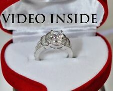 LUXE8J*1.05CT Round Cut Engagement Ring Fine Jewelry Fine Rings Diamond Silver