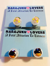 Auth Harajuku Lovers Earring Stud 2 girls Leader G & Love