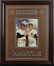 Yankees Mickey Mantle & Roger Maris Signed & Framed 8X10 Photo PSA/DNA #B86778