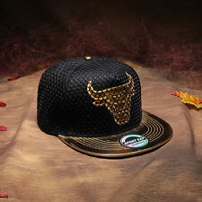 NEW Bull Brim Snapback Hats Baseball Caps Adjustable Hip Hop Bboy Hats Unisex