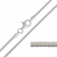 """925 Sterling Silver FOXTAIL Chain Necklace 16 18 20 22 24 26 28 30"""" Inch 1.5mm"""