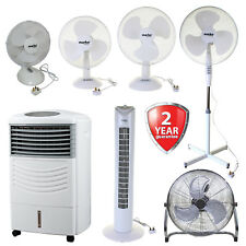 Oscillating Free Standing Cooling Air Fan Table Fans Electric Tower Pedestal NEW