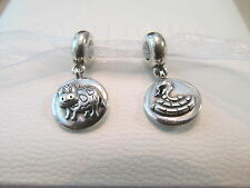 (1) Authentic PANDORA Chinese Zodiac Year Of The SNAKE or Year Of The OX Charm