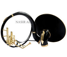 SOUSAPHONE TUBA Bb PITCH KING SIZE BLACK COLORED WITH FREE HARD CASE + MOUTH PC.