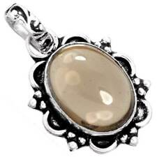 925 Sterling Silver Overlay Jewelry Natural Smoky Topaz Gemstone Pendant ab26662