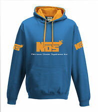 NOS Nitrous Oxide Systems Inc Hoodie Fast and Furious Blue Orange Adults