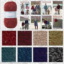 SIRDAR HARRAP TWEED CHUNKY KNITTING YARN & PATTERN COLLECTION