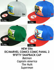 NEW ERA DC/MARVEL COMICS COMIC PANAL 2 9FIFTY SNAPBACK CAP - ASSORTED CHARACTERS