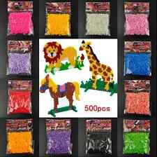 5mm hama perler fuse beads 14Colors 500Pcs iron beads kids diy handmaking toy US