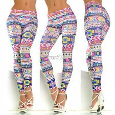 New Sexy Womens Print Slim Jeans Leggings Stretchy Jeggings Skinny Pencil Pants