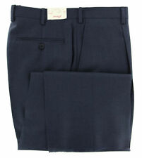 New $900 Brioni Midnight Navy Blue Solid Pants - Slim - (CANNES4010215R)