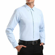 Men's Long Sleeve Shirts Button Down Slim Fit Casual Formal Solid Colors A026