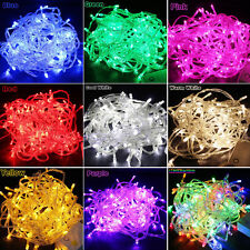100/200 LED Curtain Fairy Lights Wedding Outdoor Christmas Garden Party 9 Colors