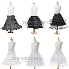Flower Girl Petticoat Children Underskirt Slips Crinoline White/ Black Kid Dress