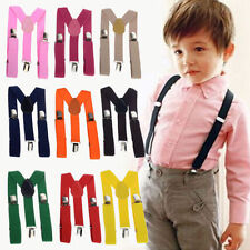 Lovely Baby Boys Girls Clip-on Suspender Y-Back Child Elastic Suspenders f19