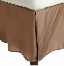 Super Soft 1 Qty Bed Skirt 1000 TC Egyptian Cotton Drop 8-20'' Taupe Solid