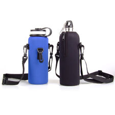 1L Water Bottle Carrier Insulated Cover Case Bag Pouch Holder + Shoulder Strap