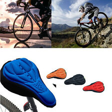 Silicone NEW Cushion Bike Saddle Soft Gel Cycling Bicycle Cover Seat 3D Pad