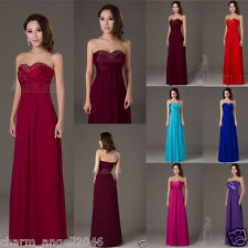 12 Color Chiffon Women's Dresses Bridesmaid Evening Party Formal Prom Dress Gown