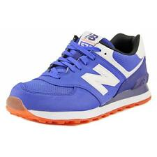 New Balance ML574 Men  Round Toe Suede Blue Sneakers