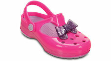 Crocs Carlie Glitter Bow Girls Mary Jane