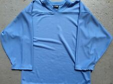 LIGHT BLUE Authentic / Midweight BLANK Mens Boys League Hockey Practice Jersey