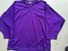 PURPLE Authentic Midweight BLANK Mens Boys League Travel Hockey Practice Jersey