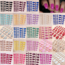 False Designer Nails Nail Tips New Full Fashion Style French Hot 24 Pcs Acrylic