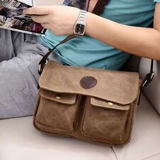 Men's Vintage Canvas Leather Satchel Military Messenger Bag Shoulder Bag New