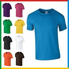 CHILDRENS 100% COTTON T-SHIRT GILDAN Soft Feel Tee Ringspun PLAIN Kids T SHIRT