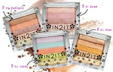 NEW HIGHLIGHTER PEARL SHIMMER RADIANCE GLOW COMPACT BRICK POWDER BLUSH EYE COLOR
