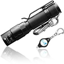 Lumintrail LED Keychain Flashlight 130 lumen Magnetic Tailcap + Free Micro Light