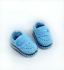 Handmade Crochet Infant Baby Booties Slippers Shoes Boys 0-3-6-9-12Months
